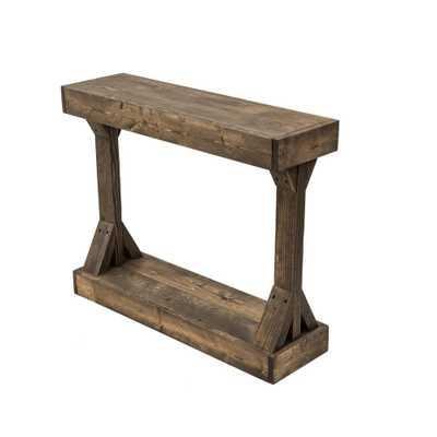 Del Hutson Designs Barb Dark Walnut Small Console Table, Small Dark Walnut - Home Depot