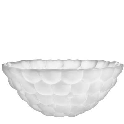 "Orrefors Raspberry Frost Decorative Bowl Size: 3"" H x 7.5"" W x 7.5"" D - Perigold"