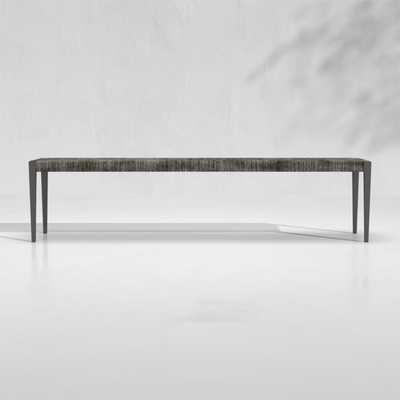 Suri All-Weather Woven Wicker Dining Bench - Crate and Barrel