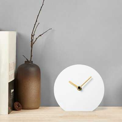 Analog Metal Quartz Tabletop Clock - Wayfair