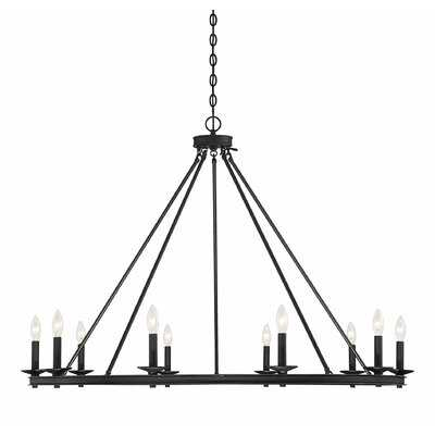 Poynor 10-Light Candle Style Wagon Wheel Chandelier - Wayfair