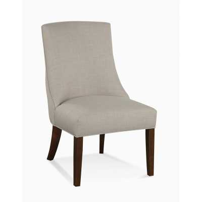Braxton Culler Tuxedo Nailhead Trim Upholstered Dining Chair Upholstery Color: Gray and Black Textured Plain, Leg Color: Antique Cottage White - Perigold