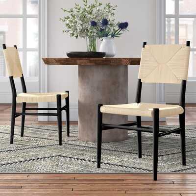 Hermann Rattan Solid Wood Side Chair - Wayfair