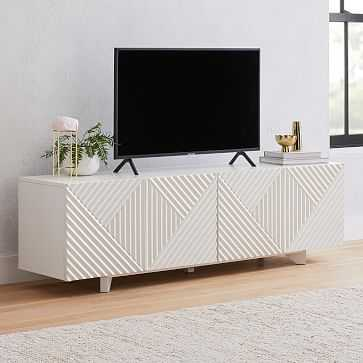 "Rosanna Ceravolo 68"" Media Console, White - West Elm"