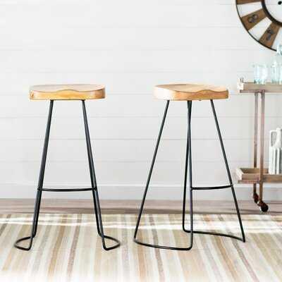 Barraute Solid Wood  Bar & Counter Stool - Wayfair