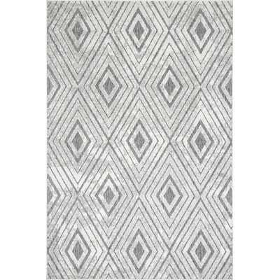 Marcia Geometric Gray Indoor / Outdoor Area Rug - Wayfair