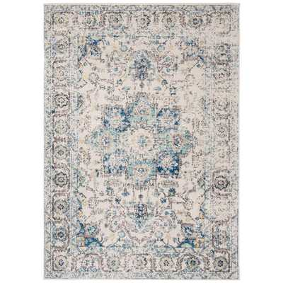 Safavieh Madison Turquoise/Ivory 7 ft. x 9 ft. Area Rug - Home Depot