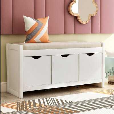 Emmons Wood Cubby Storage Bench - Wayfair