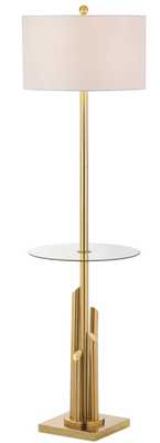 Ambrosio Floor Lamp Side Table - Gold/White - Arlo Home - Arlo Home