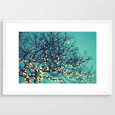 Twinkle Lights Framed Art Print by Sylvia Cook Photography - Vector White - LARGE (Gallery)-26x38 - Society6