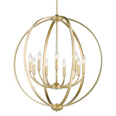 Golden Lighting Colson 9-Light Olympic Gold Globe Chandelier - Home Depot