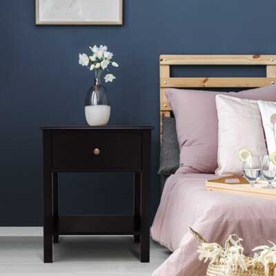 Ajet 1 - Drawer Nightstand in Black - Wayfair