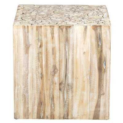Gregoire Solid Wood Block End Table - Wayfair