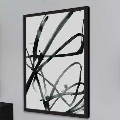 'Black Strokes' Framed Watercolor Painting Print on Paper - Wayfair
