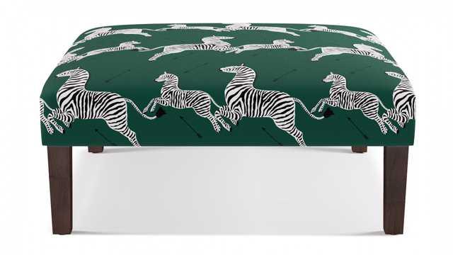 Cocktail Ottoman | Emerald Zebra  - The Inside