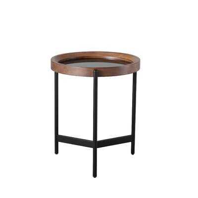Demire Glass Top 3 Legs End Table - Wayfair