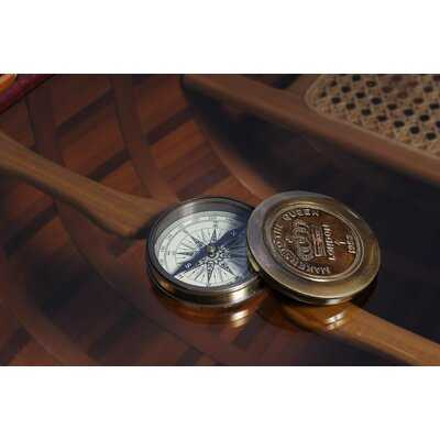 Thaxted Makers to the Queen Compass with Leather Case - Wayfair