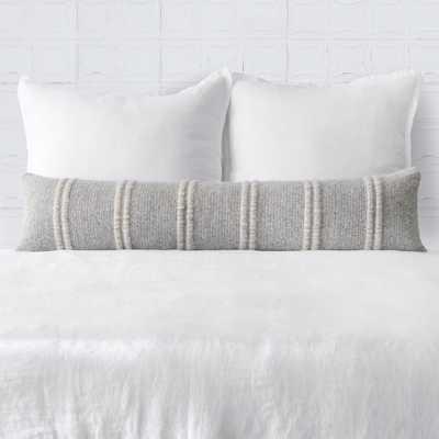 Contigo Lumbar Pillow - Grey - 12'' x 30'' By The Citizenry - The Citizenry