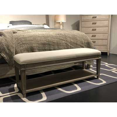 Willow Upholstered Bench Color: Burlap - Perigold