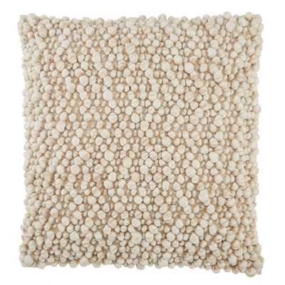 "Design (US) Beige 22""X22"" Pillow - Collective Weavers"
