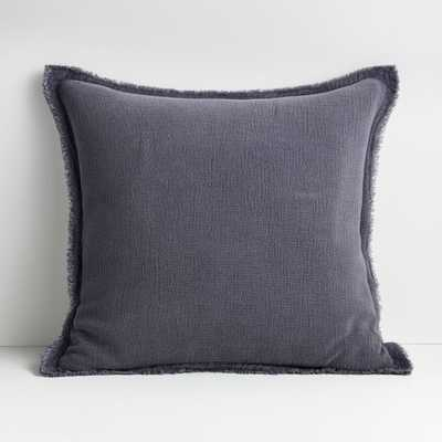 "Olind 23"" Blue Pillow with Feather-Down Insert - Crate and Barrel"