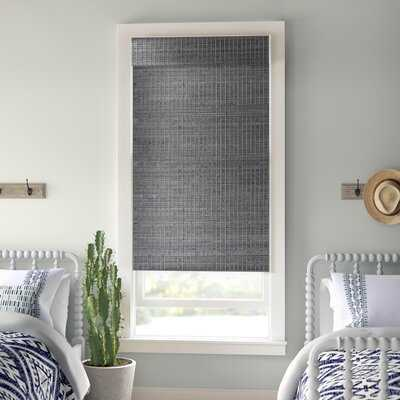 Cordless Semi-Sheer Gray-Brown Roman Shade - Wayfair