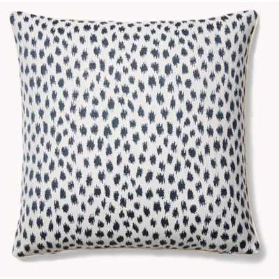 The Fabric Shoppe Pebble Beach Sunbrella Indoor / Outdoor Animal Print Throw Pillow Color: Blue - Perigold