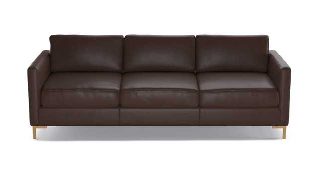Modern Sofa | Steamboat Brown Leather - The Inside