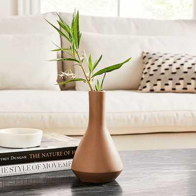 Crackle Glaze Vase, Terracotta, Small Vase - West Elm