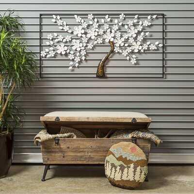 Wood Flip Top Storage Bench - Wayfair