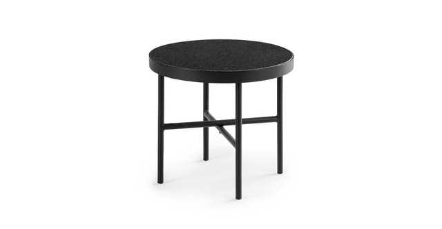 "Gera Black Granite 18"" Side Table - Article"