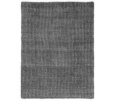 "Knitted Faux Fur OS Throw, 60x80"", Dark Gray - Pottery Barn"
