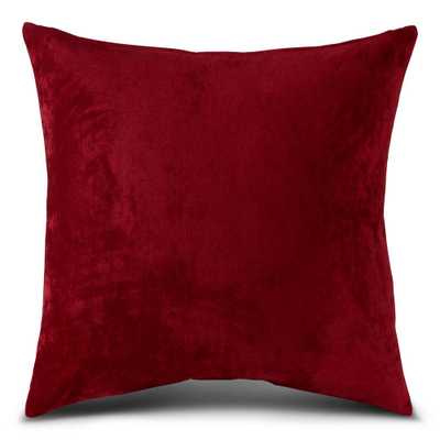 Greendale Home Fashions Solid Ruby Velvet 20 in. x 20 in. Square Throw Pillow, Red - Home Depot