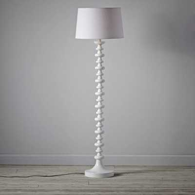 Jenny Lind White Floor Lamp Base - Crate and Barrel