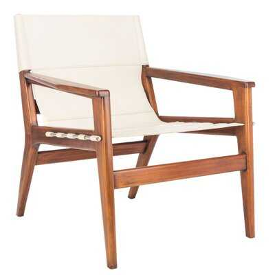 Digby Leather Sling Chair - Wayfair