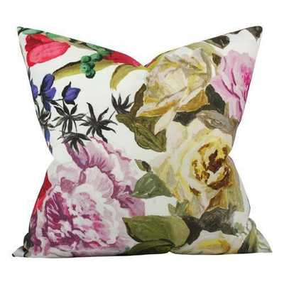 Orangerie Rose  - 18x18 pillow cover / pattern on front, solid on back - Arianna Belle