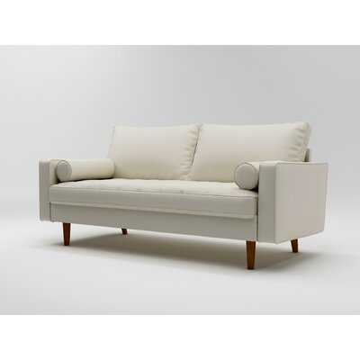 "Lewes 70"" Wide Faux Leather Square Arm Sofa - Wayfair"