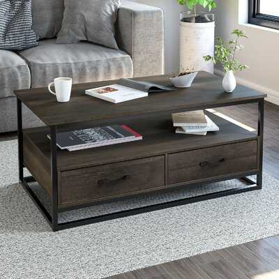 Southside Frame Coffee Table with Storage - Wayfair