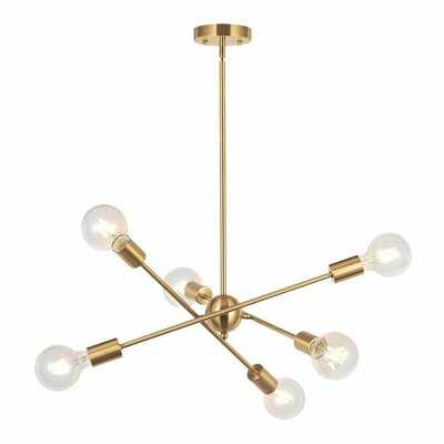 Wingo 6 - Light Sputnik Modern Linear Chandelier - Wayfair