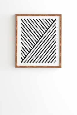 "Geometric Stripe Pattern by Kelly Haines - Framed Wall Art Bamboo 30"" x 30"" - Wander Print Co."