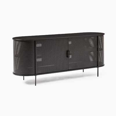 "Perforated Media Collection, Antique Bronze 68"" Console - West Elm"