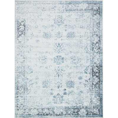 Brandt Oriental Light Blue/Gray/Ivory Area Rug - Wayfair