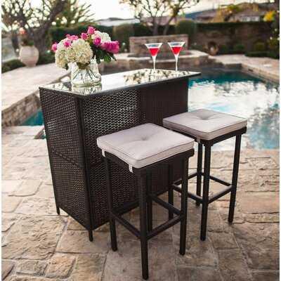 Powe Outdoor 3-Piece Bar Set - Wayfair