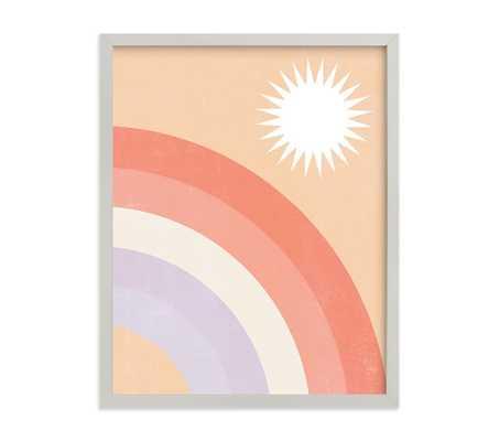 Minted(R) Double Rainbow with Sun Wall Art by Emmanuela Carratoni 11x14, Gray - Pottery Barn Kids