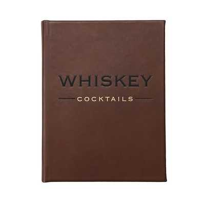 Whiskey Cocktails Book, Genuine Leather Book, Multi - West Elm