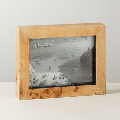 """Burl Wood Picture Frame 5""""x7"""" - CB2"""