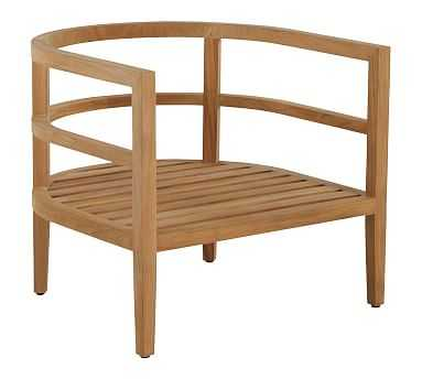 Oxeia Teak Lounge Chair Frame - Pottery Barn