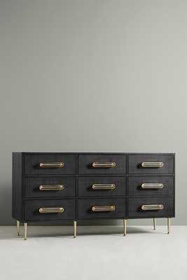 Odetta Nine-Drawer Dresser By Tracey Boyd in Black - Anthropologie