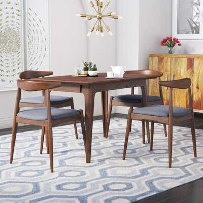 Millie 5 Piece Mid Century Solid Wood Dining Set - Wayfair