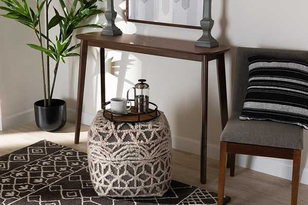 Baxton Studio Wendy Mid-Century Modern Walnut Finished Wood Console Table - Lark Interiors